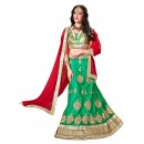 Ethnic Wear Net Green Lehenga Choli - ALISHA 35105