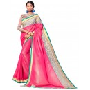 Festival Wear Georgette Pink Saree - AMREEN4607