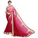 Party Wear Georgette Maroon Saree - AMREEN4602