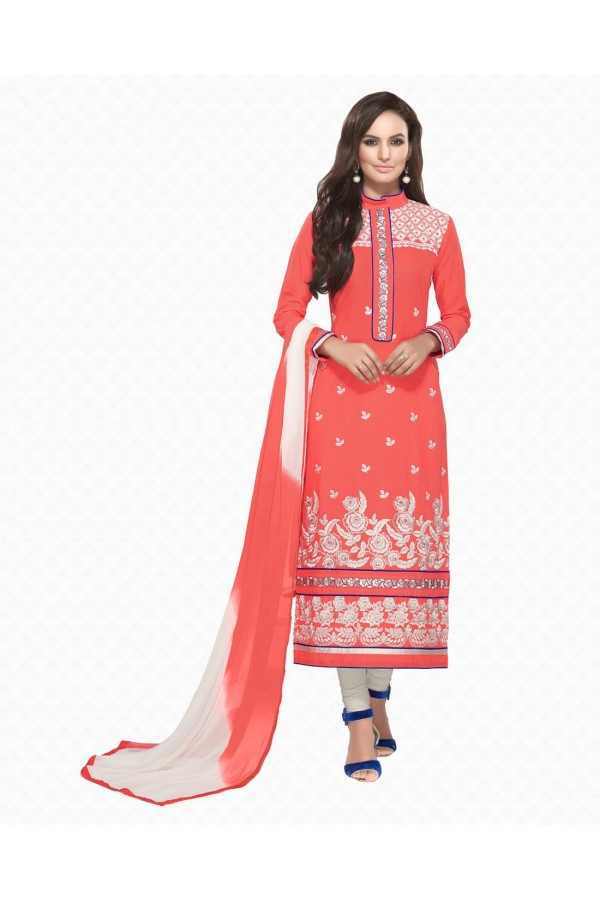 Party Wear Pink Embroidered Slawar Suit - 104