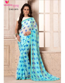 Casual Wear Sky Blue Chiffon Saree  - VARSIDDHI-2875