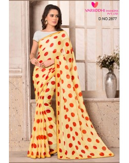 Party Wear Yellow Chiffon Saree  - VARSIDDHI-2877
