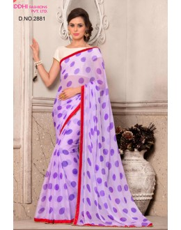 Ethnic Wear Purple Chiffon Saree  - VARSIDDHI-2881