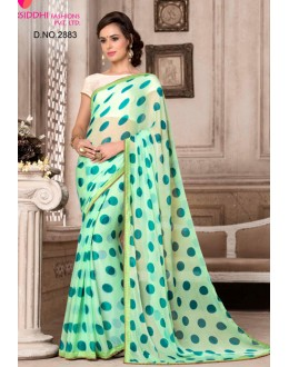 Light Green Colour Chiffon Saree  - VARSIDDHI-2883