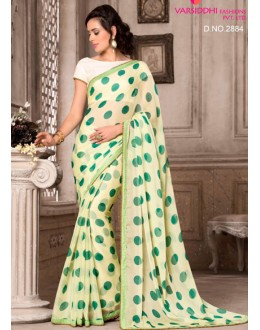 Festival Wear Sea Green Chiffon Saree  - VARSIDDHI-2884