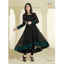 Designer Georgette Black Anarkali Suit - FFP1-1050