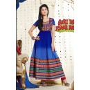Designer Georgette Blue Anarkali Suit - FFP1-1039