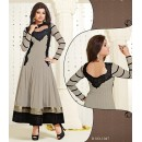 Designer Georgette Grey Anarkali Suit - FFP1-1047