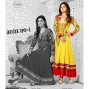 Designer Georgette Yellow Anarkali Suit - FFP1-1043