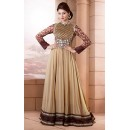 Ethnic Wear Heavy Silk Cream Anarkali Suit - FFP13-2031