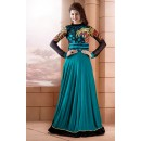 Heavy Silk Cyan Anarkali Suit - FFP13-2029
