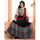 Zarin Khan Georgette Black Anarkali Suit - FFP13-2027