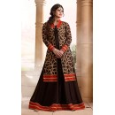 Zarin Khan Georgette Brown Anarkali Suit - FFP13-2026