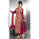 Party Wear Georgette Maroon Salwar Suit - FFP15-2045