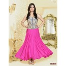 Ethnic Wear Georgette Pink Anarkali Suit - FFP4-1053