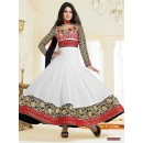 Georgette White & Black Anarkali Suit - FFP4-1055