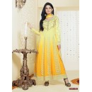 Party Wear Georgette Yellow Anarkali Suit - FFP4-1052
