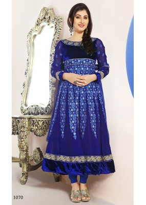 Ethnic Wear Georgette Blue Anarkali Suit - FFP5-1070