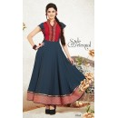 Ethnic Wear Georgette Dark Grey Anarkali Suit - FFP5-1063
