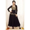 Party Wear Georgette Black Anarkali Suit - FFP5-1069
