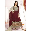 Party Wear Georgette Maroon Anarkali Suit - FFP5-1073