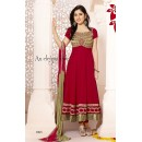 Wedding Wear Georgette Maroon Anarkali Suit - FFP5-1065