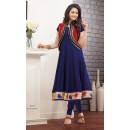 Ethnic Wear Georgette Blue Anarkali Suit - FFP9-1094