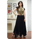 Party Wear Georgette Black Anarkali Suit - FFP9-2001