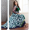 Party Wear Georgette Green Anarkali Suit - FFP9-1099