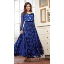 Wedding Wear Georgette Blue Anarkali Suit - FFP9-1098