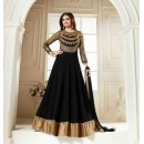 Ethnic Wear Georgette Black Anarkali Suit - FFVINAY-1005