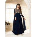 Party Wear Georgette Blue Anarkali Suit - FFVINAY-1002