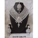 Ethnic Necklace Set With Mangtika & Earrings - 03