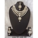 Ethnic Necklace Set With Mangtika & Earrings - 101