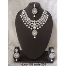 Ethnic Necklace Set With Mangtika & Earrings - 103