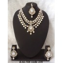 Ethnic Necklace Set With Mangtika & Earrings - 104