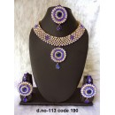 Ethnic Necklace Set With Mangtika & Earrings - 113