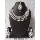 Ethnic Necklace Set With Mangtika & Earrings - 44