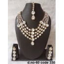 Ethnic Necklace Set With Mangtika & Earrings - 60
