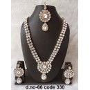 Ethnic Necklace Set With Mangtika & Earrings - 66