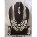 Ethnic Necklace Set With Mangtika & Earrings - 86