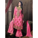 Designer Light Pink Embroidered Georgette Palazzo Suit - 24CA25-3004 ( 24CA-24CA25 )