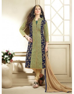 Beautiful Multicolor Georgette & Net Embroidered Salwar Suit - 24CA96-1004 ( 24CA-24CA96 )