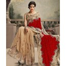 Bollywood Replica - Party Wear Red & Beige Saree - 24CS12-9030-E