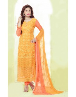 Party Wear Yellow Chiffon Salwar Kameez - 24CA135-2213