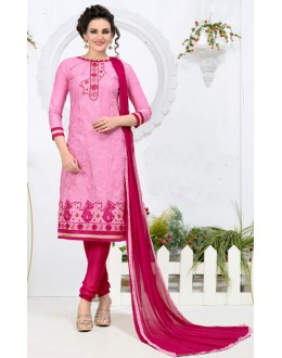 Ethnic Wear Pink Churidar Suit - 24CA136-02