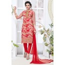 Office Wear Peach & Red Salwar Suit - 24CA136-04
