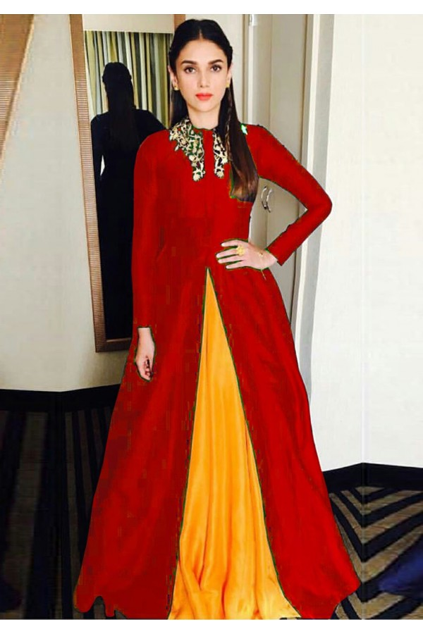 Bollywood Replica - Aditi Rao Hydari Fancy Red Gown24CA108-11020A