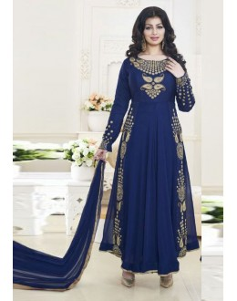 Ayesha Takia In Blue Georgette Anarkali Suit  - 24CA192-183