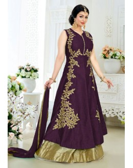Ayesha Takia In Purple Banglori Silk Lehenga Suit  - 24CA192-185